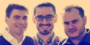 Die Gründer v.l.n.r. Michael Scholl, Lukas Ney, Tobias Scheid