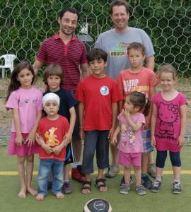Vater Amjad und der älteste Sohn Al Baraa kicken für den SV Scheuern