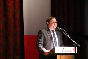 Der sozialdemokratische Kandidat für das Marpinger Rathaus, Volker Weber