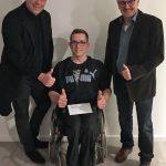 Marpingen: Staatssekretär Kolling und Ortsvorsteher Wegmann unterstützen erfolgreichen Sportler David Scherer