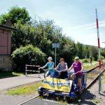 Touristische Nutzung der Hochwaldbahn mit Draisinen