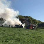 Dörrenbach: Traktor brannte