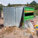 Tholey: Einbruch in Container