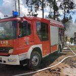 Bosen: Forstmaschine brannte im Wald