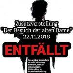 """St. Wendel: Theaterstück """"Besuch der alten Dame"""" ABGESAGT"""