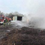 Oberlinxweiler: Brand auf der Kompostieranlage