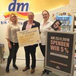 """dm spendet 755,50 Euro für die """"Stiftung Kind und Jugend in der Gemeinde Tholey"""""""