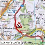 Tholey: Sanierungder A 1 zwischen Eppelborn und Tholey in Fahrtrichtung Trier