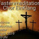 """Alsweiler: Fastenmeditation des Chors """"Einklang"""" in der Pfarrkirche St. Mauritius"""