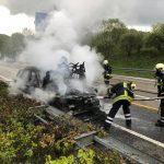 Hasborn-Dautweiler: Auto brennt auf Autobahn aus