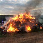 Selbach: Wieder ein Brand von Heuballen