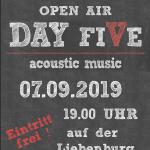 Namborn: Konzert auf der Liebenburg im Ortsteil Eisweiler am 7. September 2019
