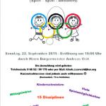 Nohfelden: 1. Kinderolympiade Klinik Saarwald