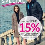 St. Wendel: Houy, PUR und Cecil laden zum Sonntagsshopping ein – 15 % Rabatt auf Outdoorjacken *Anzeige