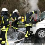 Nonnweiler: Auto brannte auf der A1