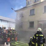 St. Wendel: Brand eines Wohn- und Geschäftshauses in der Jahnstraße