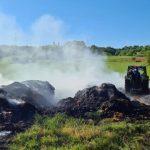 Zwischen Lindscheid und Dorf brannte ein Heuhaufen