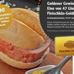 100 Fleischkäse-Weck gratis mit der Fleischkäs-Goldkarte von Globus St. Wendel