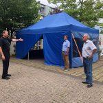 """""""Immer vor der Lage sein"""" – Abstrich-Zelt für Urlaubsrückkehrer in St. Wendel errichtet"""
