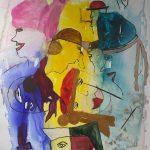 Farbenfrohe Tuschemalerei in der Johann-Adams-Mühle