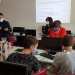 Ministerin Streichert-Clivot im Rahmen ihrer Digitaltour an der GemS Freisen