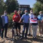 Ein mustergültiges Tourismus- und Freizeitprojekt beginnt – Spatenstich des Bahnradwegs St. Wendeler Land in Asweiler