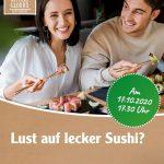 Wie wär's mal wieder mit Sushi? Jetzt zwei Tickets für den Sushi-Menü-Abend gewinnen