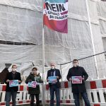 Gemeinsam Flagge zeigen gegen Gewalt an Frauen