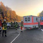 Schwerer Verkehrsunfall auf der A62 zwischen Otzenhausen und Türkismühle