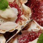Weihnachtsmenü Vorspeise- Ceviche von der Jakobsmuschel