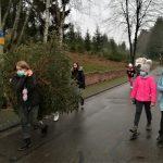 Der Marpinger Schulweihnachtsbaum ist ein Gemeinschaftswerk von 6.-Klässlern und angehenden Abiturienten