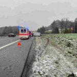 Nohfelden: Transporter gerät ins Schleudern