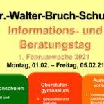 Unterricht für die Zukunft: Virtuelle Informations- und Beratungswoche an der Dr.-Walter-Bruch-Schule