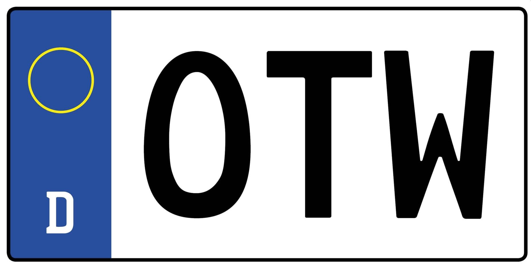 OTW Kennzeichen