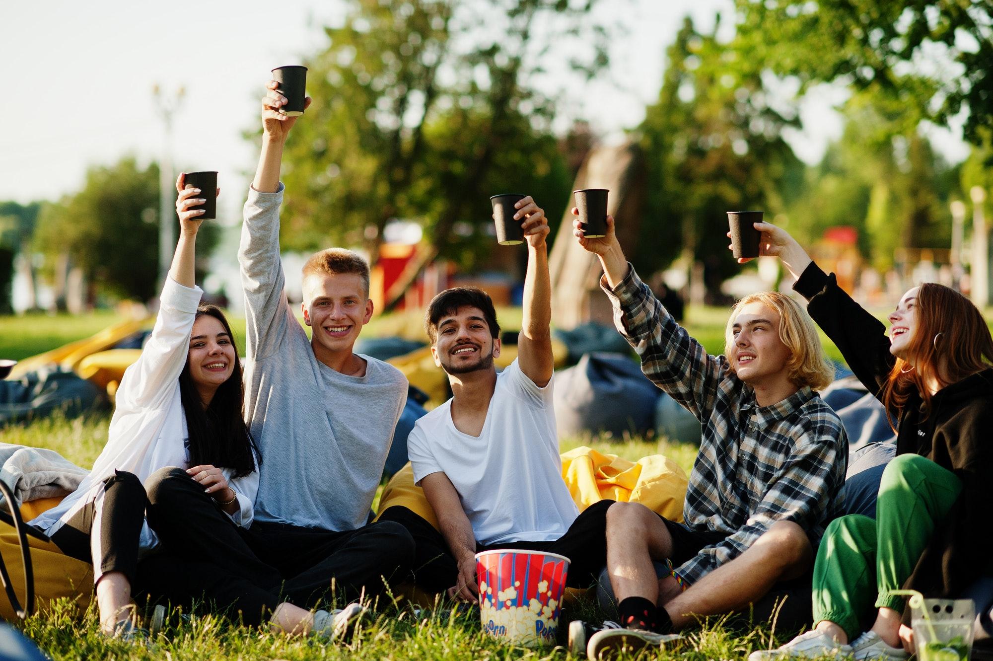 Open air cinema party