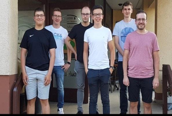 v.links n. rechts, oben: Jonas Reiter (Kreisvorsitzender), Yannik Leist, Nikolas Kavelius, unten: Fabian Meiser, Moritz Wohlschlegel, Lukas Schirra