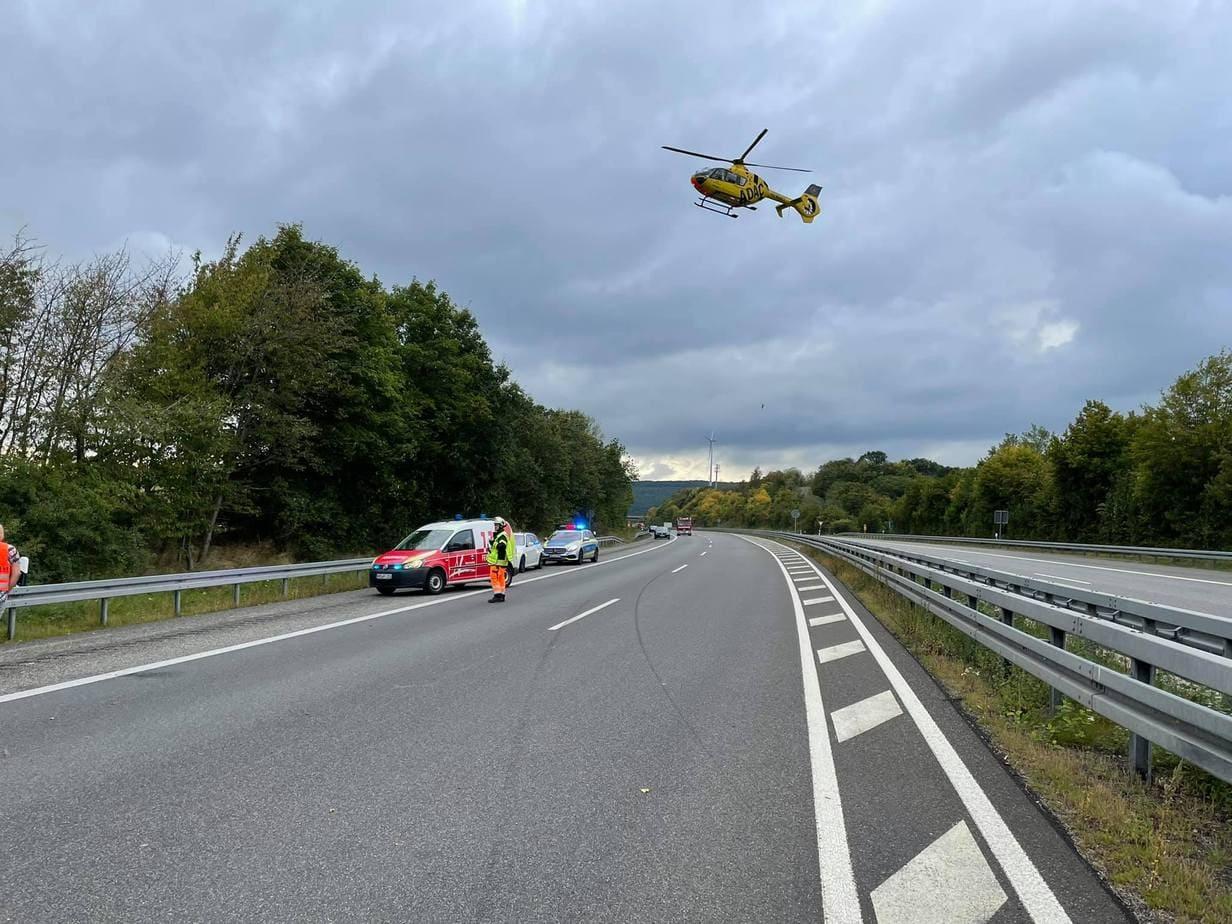 Unfall A1 Nonnweiler